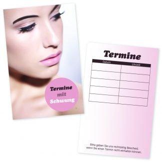 Terminkarte für Wimpernverlängerung AUGENBLICK