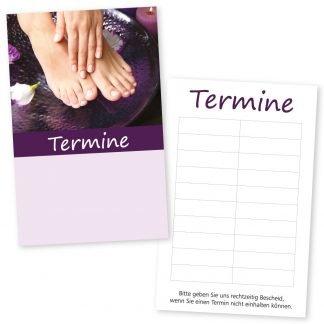 Pediküre und Maniküre Terminkarte HAND & FUSS mit 10 Terminen