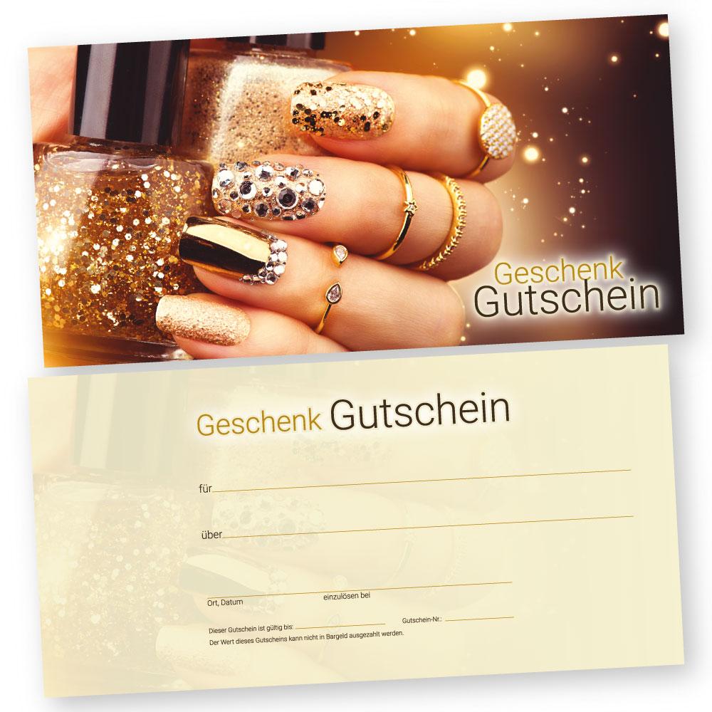 Nageldesign Gutscheinkarte Glamour Nails Gutscheinkarte
