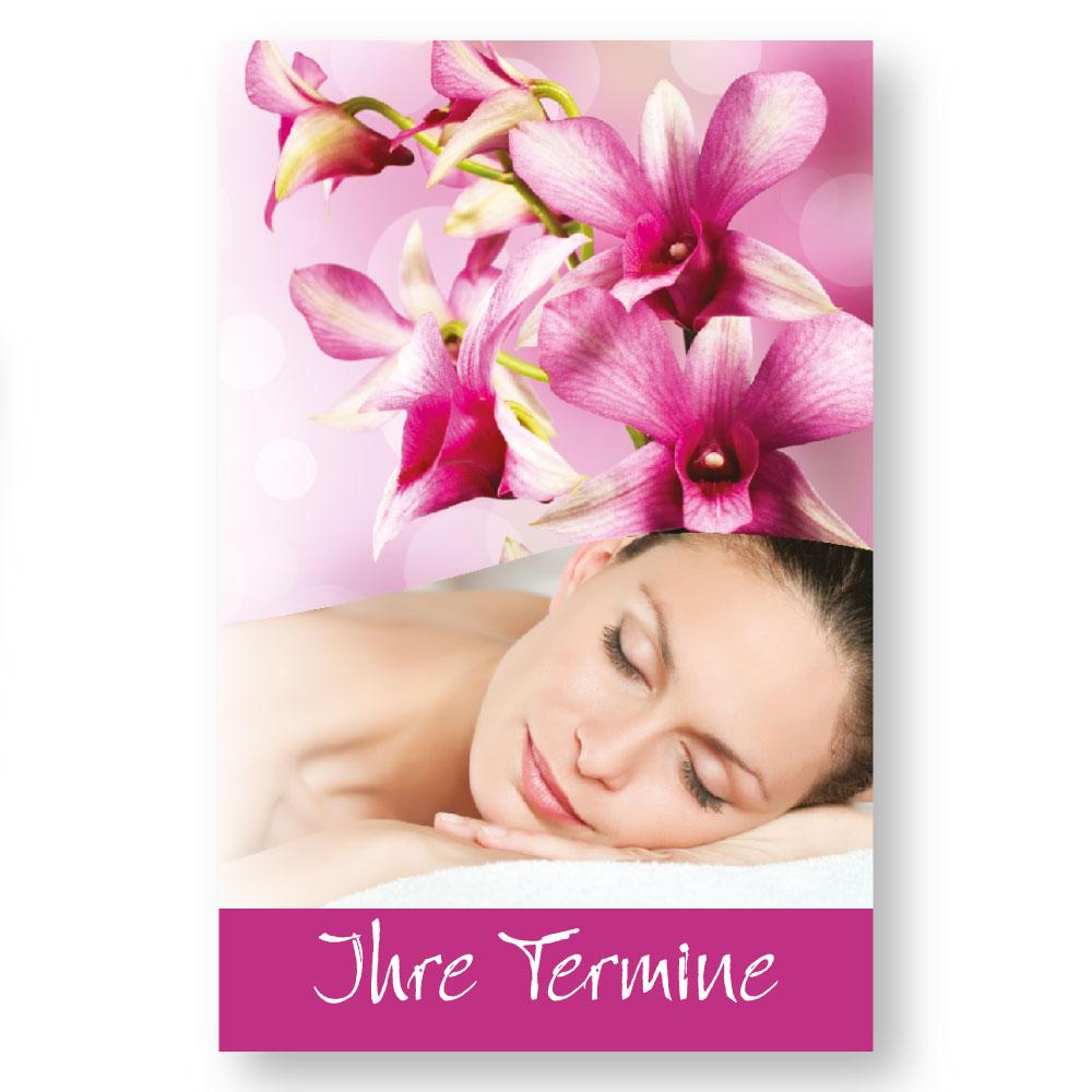 Massage Terminkarte RELAXING WOMEN