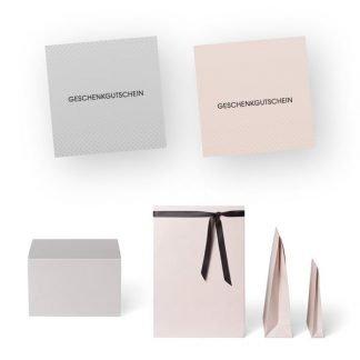 EXQUISIT Gutscheine, Terminkarten und Verpackungen