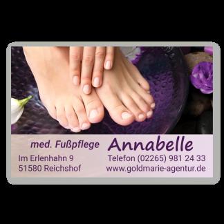 Pediküre und Maniküre Visitenkarte HAND & FUSS (Querformat)