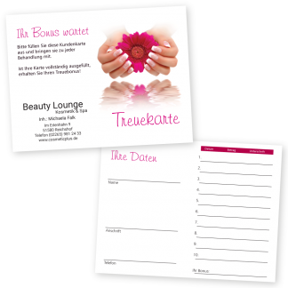 Handpflege Kundenkarte FRENCH NAILS (Hochformat)