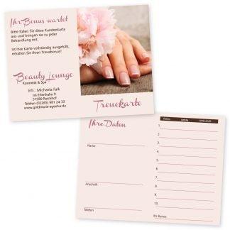Nagelpflege-Kundenkarte NATURAL NAILS (Hochformat)