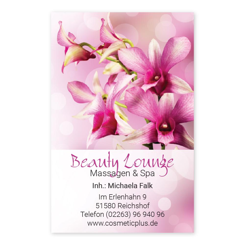 Massage Visitenkarte RELAXING WOMEN (Hochformat)
