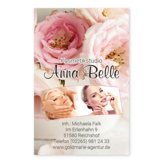 Kosmetikstudio Visitenkarte VINTAGE BEAUTY (Hochformat)